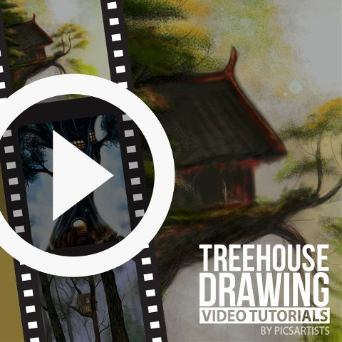 treehouse drawing time lapse video