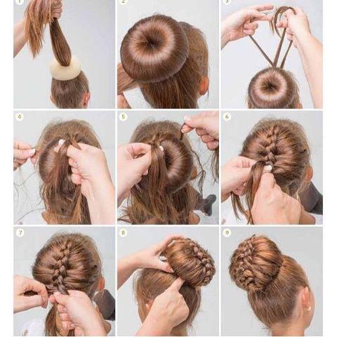 Интересные причёски для длинных волос своими руками
