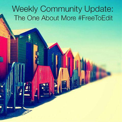Community news for #freetoedit
