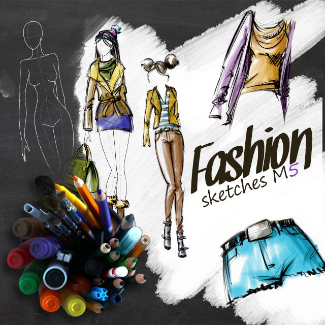 fashion sketches clipart