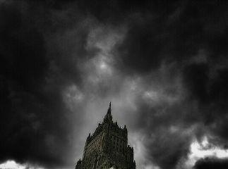 blackandwhite sky clouds architecture