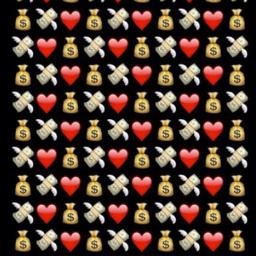 background emojis emoji wallpaper lockscreen money