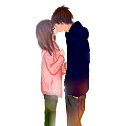 drawing kiss couple love sweet