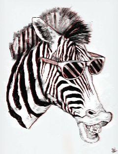 hipster zebra popart holga