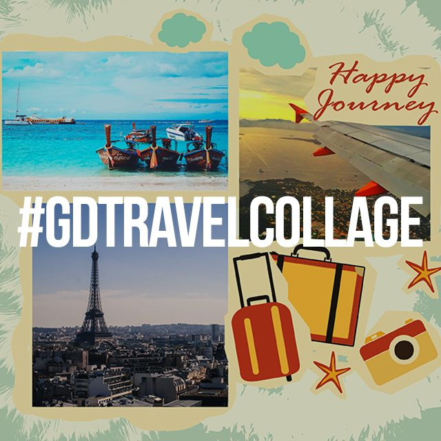 travel collage graphic design contest