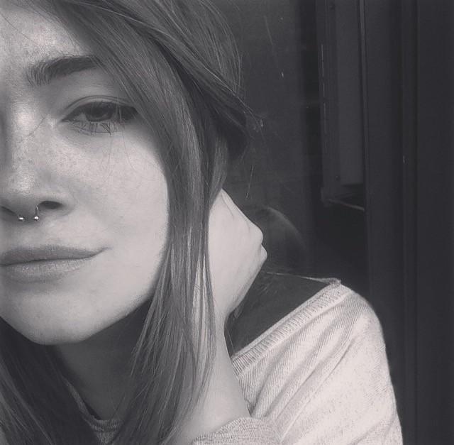 #black&white  #piercing  #septum  #blackandwhite
