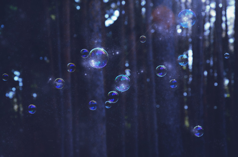 Hello! I'm so sorry for posting so rarely. I'll try to reply you all very soon! :)  This is one of my edits for my school portfolio  #emotions #nature #mystery #magic #forest #bubbles #edit #WPPnaturallight