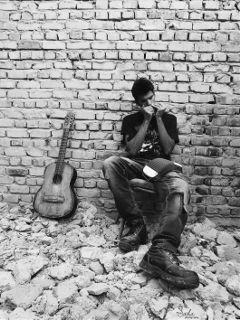 bricks music musician guitar harmonica