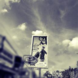 blackandwhite photography cloud sky townsquare