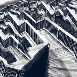 photography blackandwhite clone repeating stairs