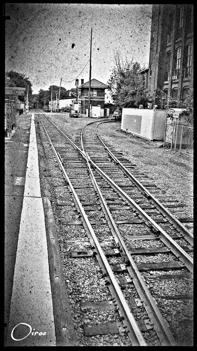 #wapoldschool  MBTA Station, Haverhill MA, USA. 2012. #train #tracks #blackandwhite