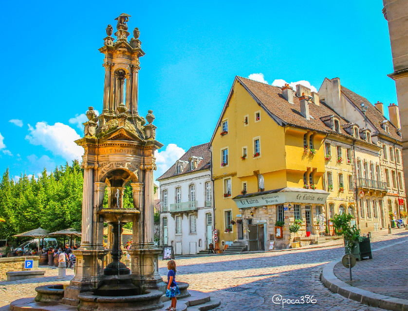 #colorful #photography #france #autun #architecture #fountain  #travel #summer