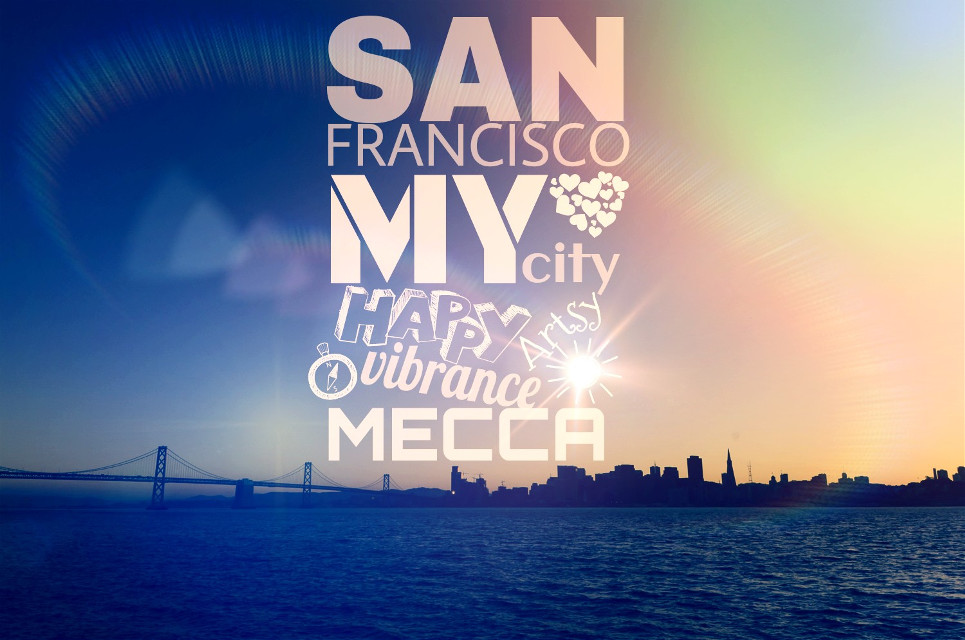 My Typography of San Francisco 5 Days left to my Mecca #typography #art #sanfrancisco #gdContrastingType