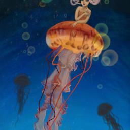 wdpshowmethesea dcjellyfish colorful digitalart