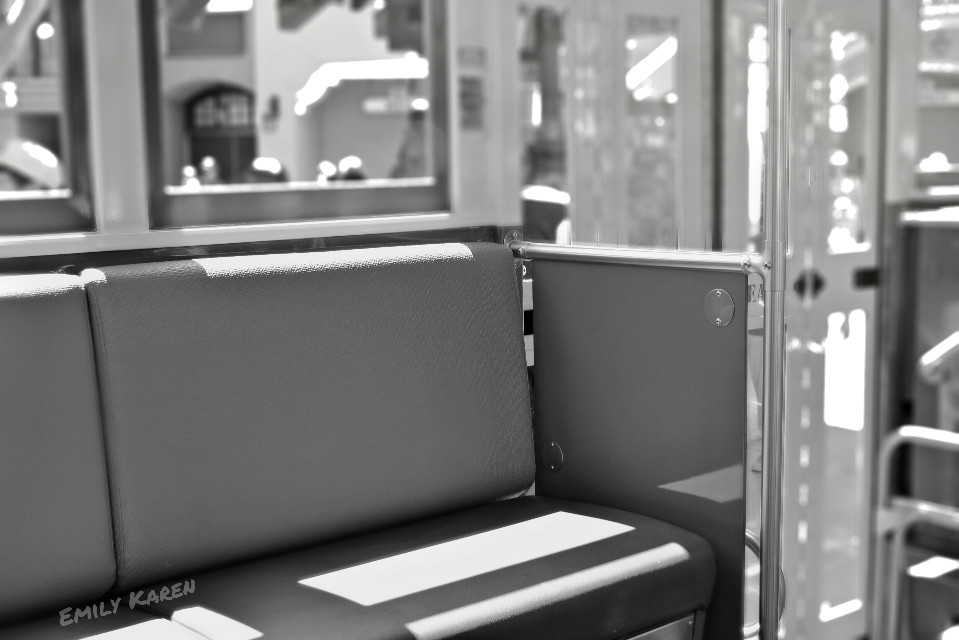 Trolly bench. #blackandwhite