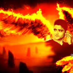 myedit angel wings fire doubleexposure curvestool