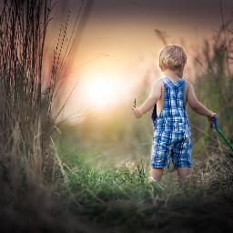 boy grasslands colorsplash nature cute