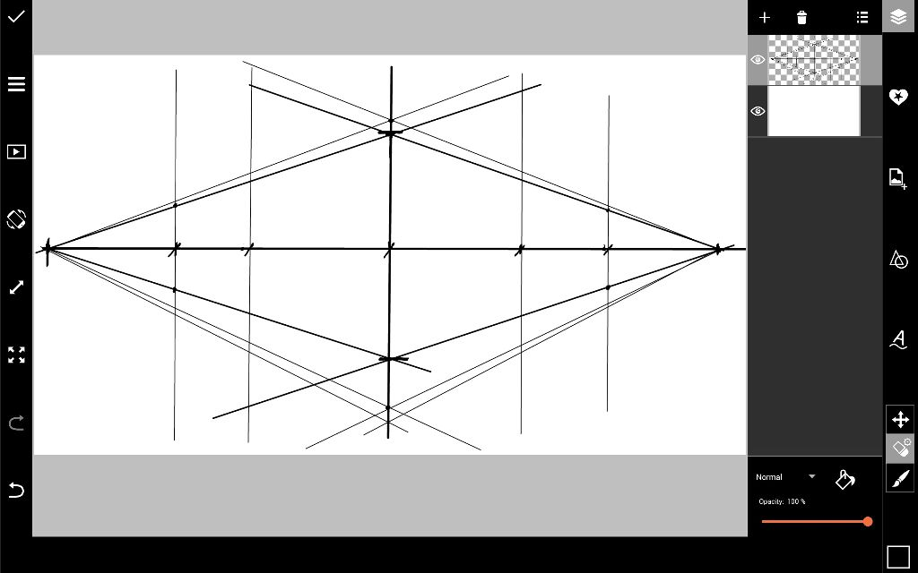 How to Create grid for Perspective drawing